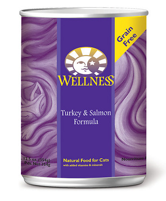 WELLNESS Turkey and Salmon Canned Cat Food Case