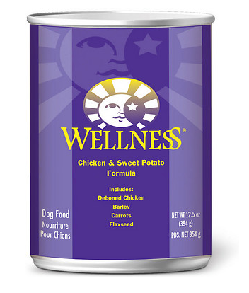 WELLNESS Chicken and Sweet Potato Canned Dog Food Case