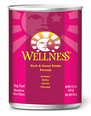 WELLNESS Duck and Sweet Potato Canned Dog Food Case
