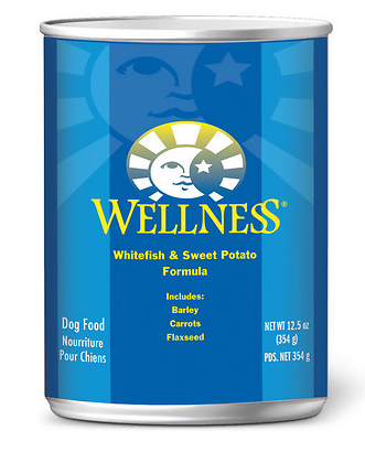 WELLNESS Fish and Sweet Potato Canned Dog Food Case
