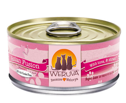 WERUVA Asian Fusion Grain-Free Canned Cat Food Case