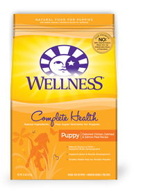 WELLNESS Complete Health Chicken, Oatmeal & Salmon Dry Puppy Food