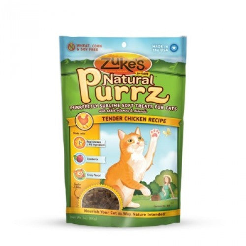 ZUKE'S Natural Purrz Chicken Treat for Cats 3oz