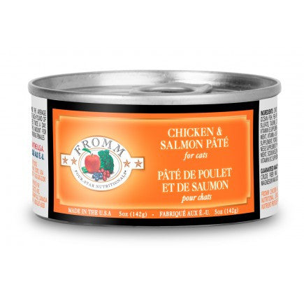 FROMM 4 Star Chicken and Salmon Canned Cat Food 12/5 oz