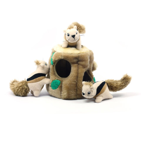 Hide-a-Squirrel Plush Puzzle Toy