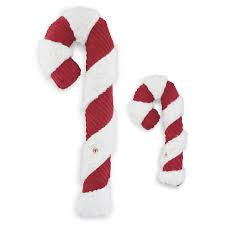HUGGLEHOUNDS Plush Holiday Candycane Toy