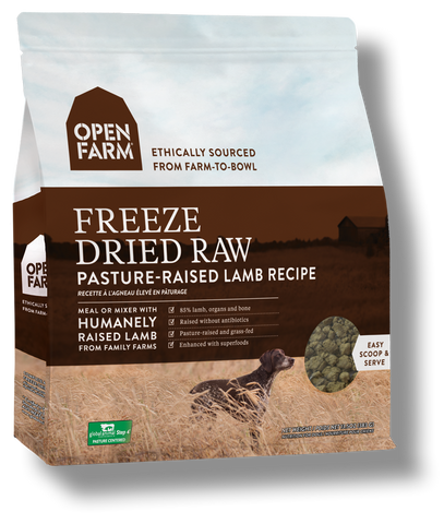 OPEN FARM Dog Freezedried Pasture Raised Lamb