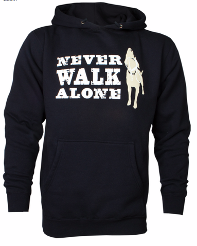 DOG IS GOOD Never Walk Alone Unisex Hoodie Sweatshirt