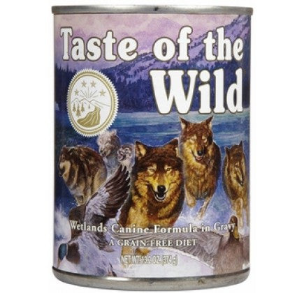 TASTE OF THE WILD Wetlands Grain-Free Canned Dog Food Case 12/13.2 oz.