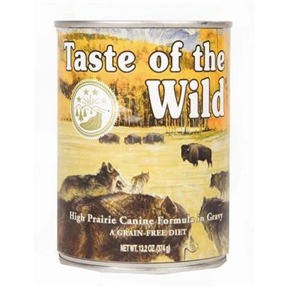 TASTE OF THE WILD High Prairie Grain-Free Canned Dog Food Case 12/13.2 oz.