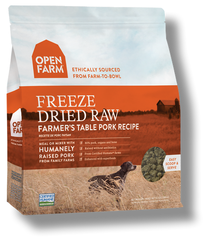 OPEN FARM Dog Freezedried Farmers Table Pork