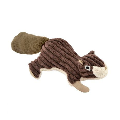 TALL TAILS Dog Squeaker Squirrel Brown 12 IN