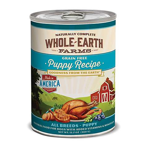 WHOLE EARTH FARMS Puppy Canned Dog Food 12.7oz