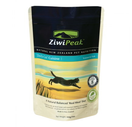 ZIWI PEAK Daily Cat Cuisine Fish & Venison Real Meat Cat Food 14 oz
