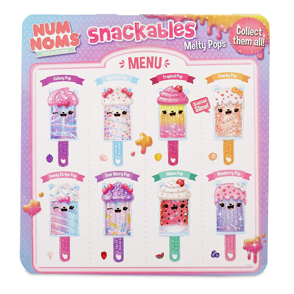 Num Noms Snackables Melty Pops Scented Melting Slime - Galaxy Pop