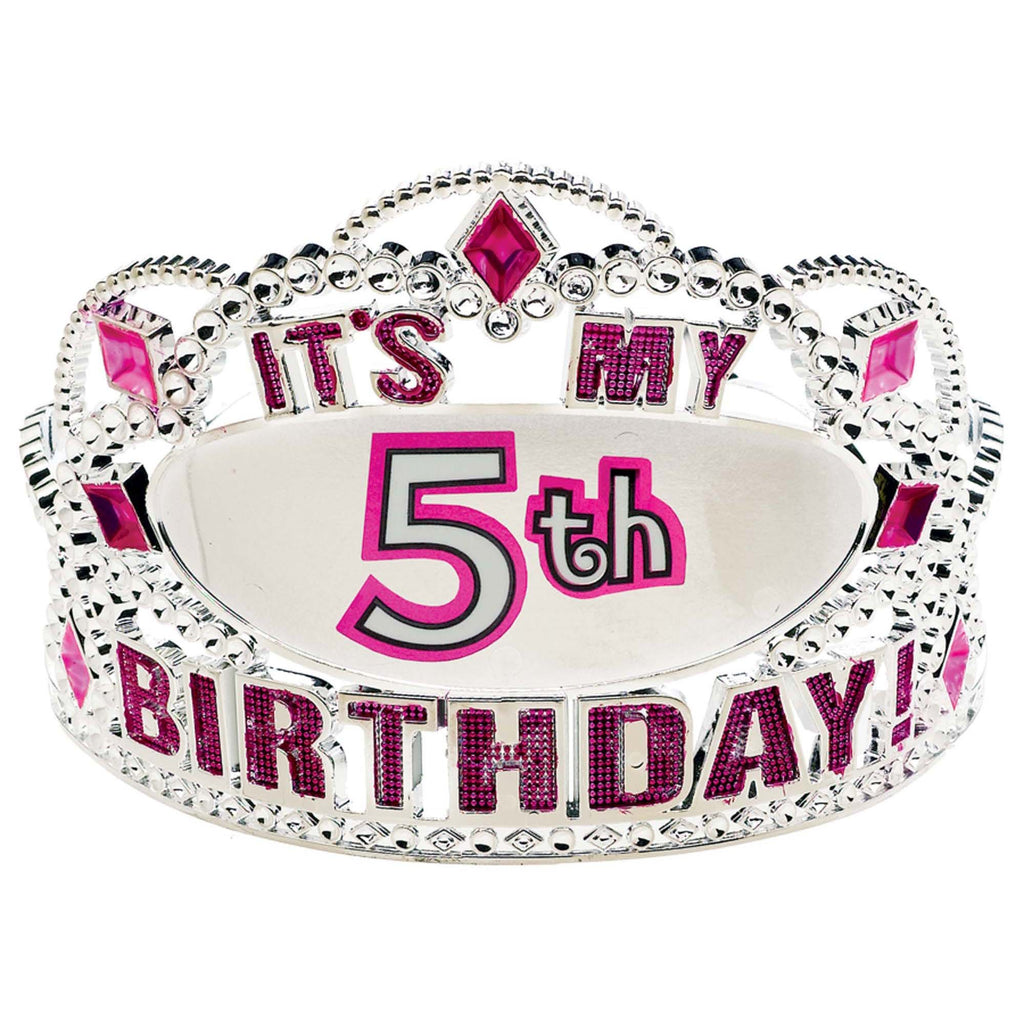 Customizable Age Birthday Tiara Plastic With 24 Stickers