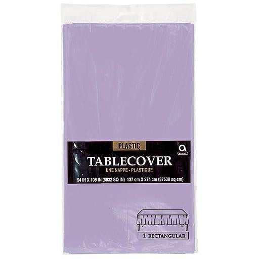 Plastic Table Cover 54in x 108in - Lavender