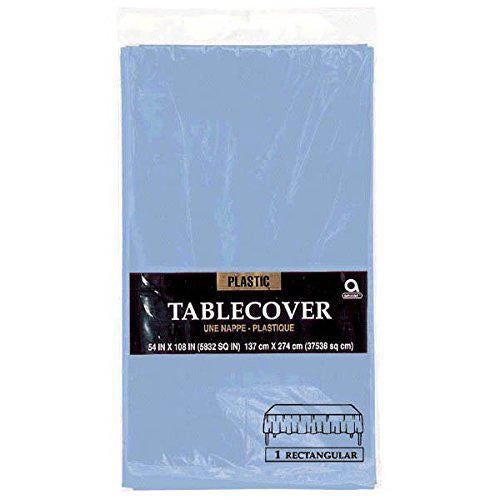 Plastic Table Cover 54in x 108in - Pastel Blue