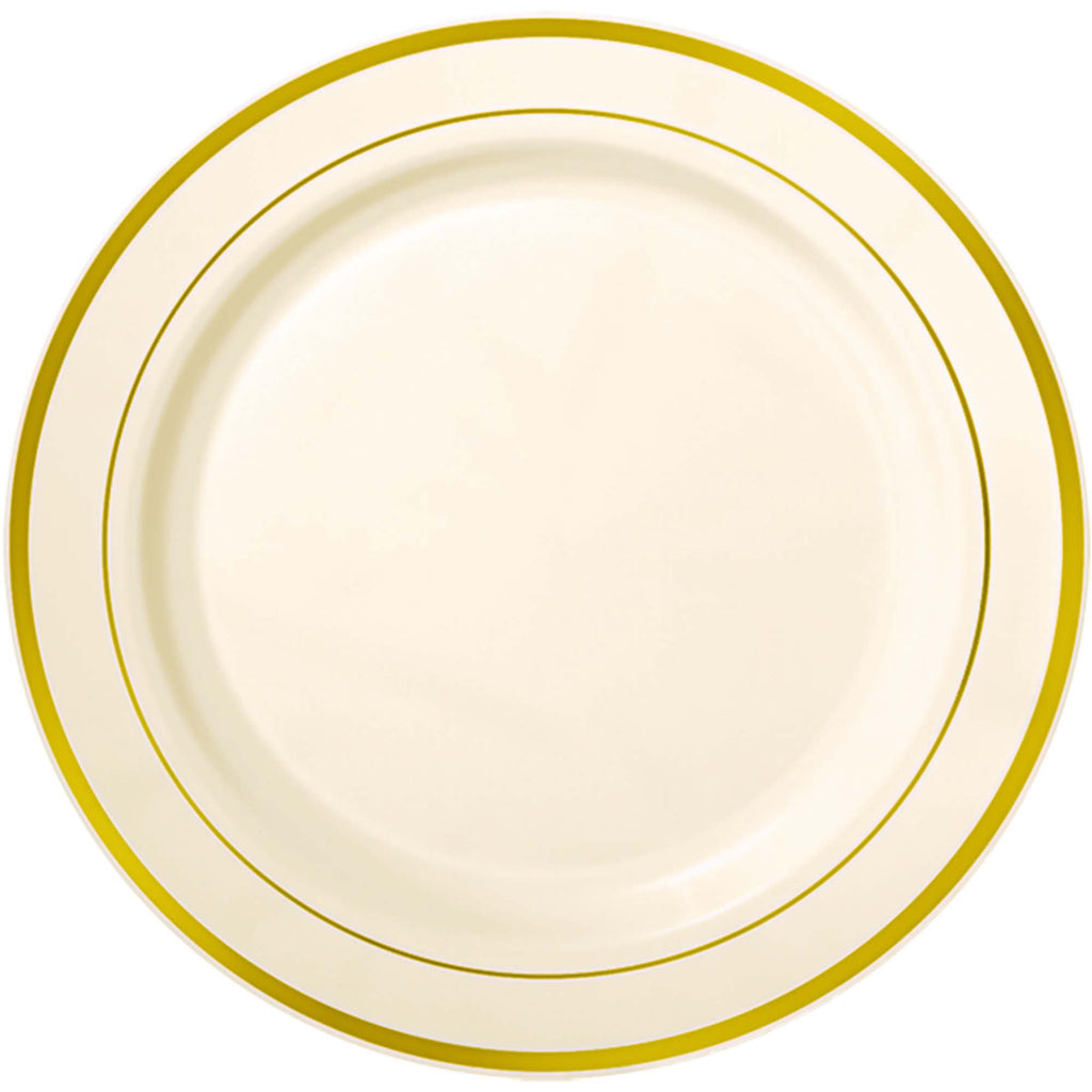amscan-premium-plates-cream-with-h-s-gold-trim-10.25in-pack-of-10-1