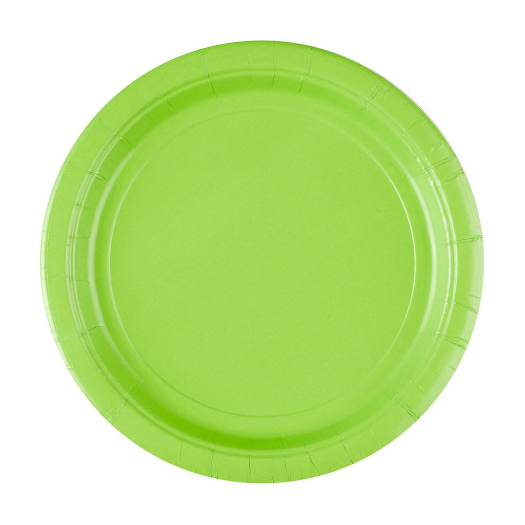 Round Paper Plates 9in - Kiwi - Pack of 8