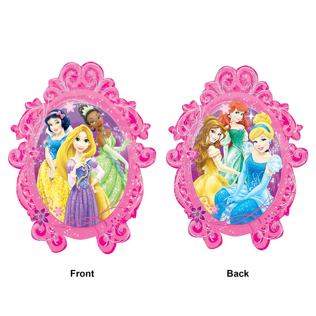 Princesses Frame Die Cut Foil Balloon 25in x 31in / 64cm x 79cm
