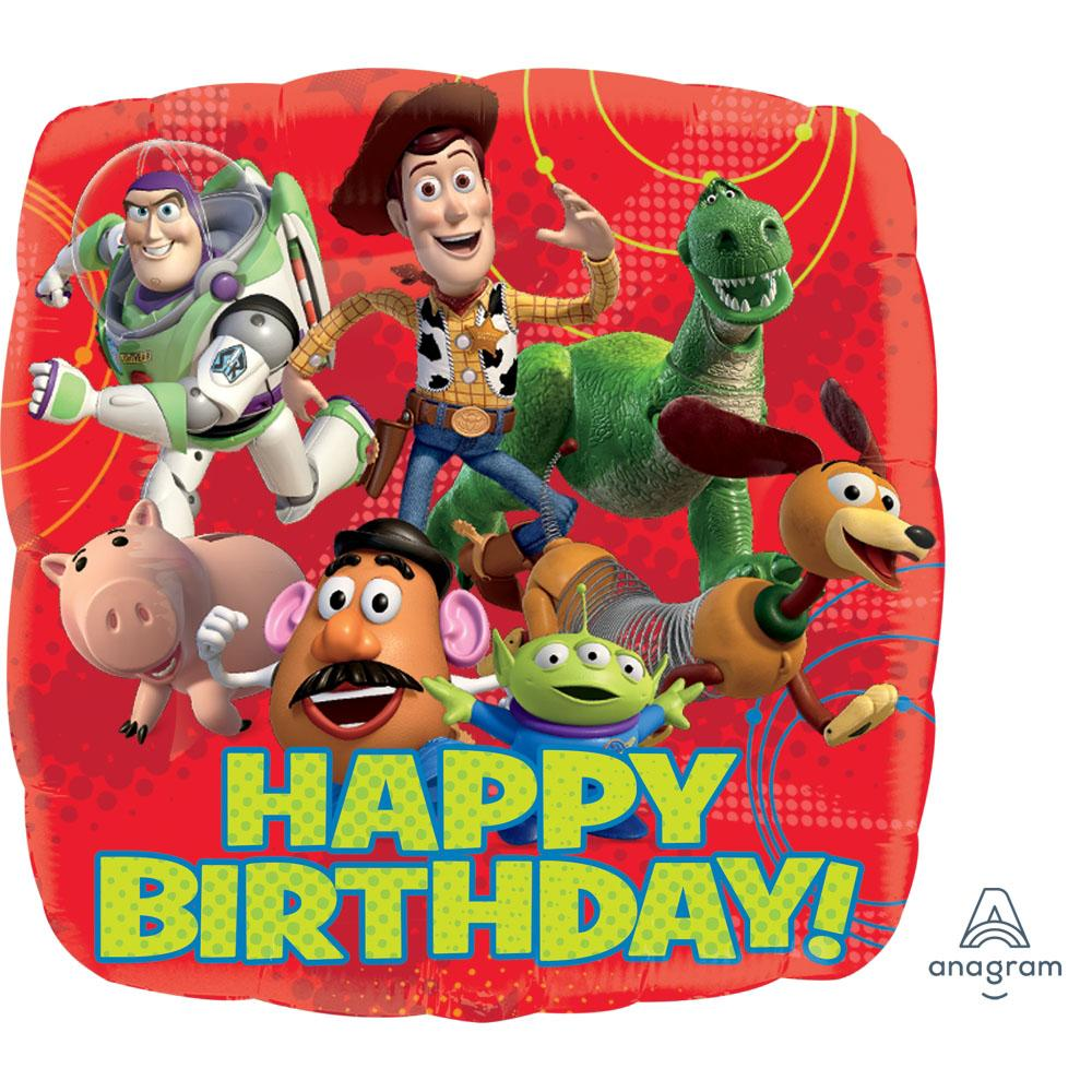 Toy Story Gang Happy Birthday Square Foil Balloon 18in / 46cm