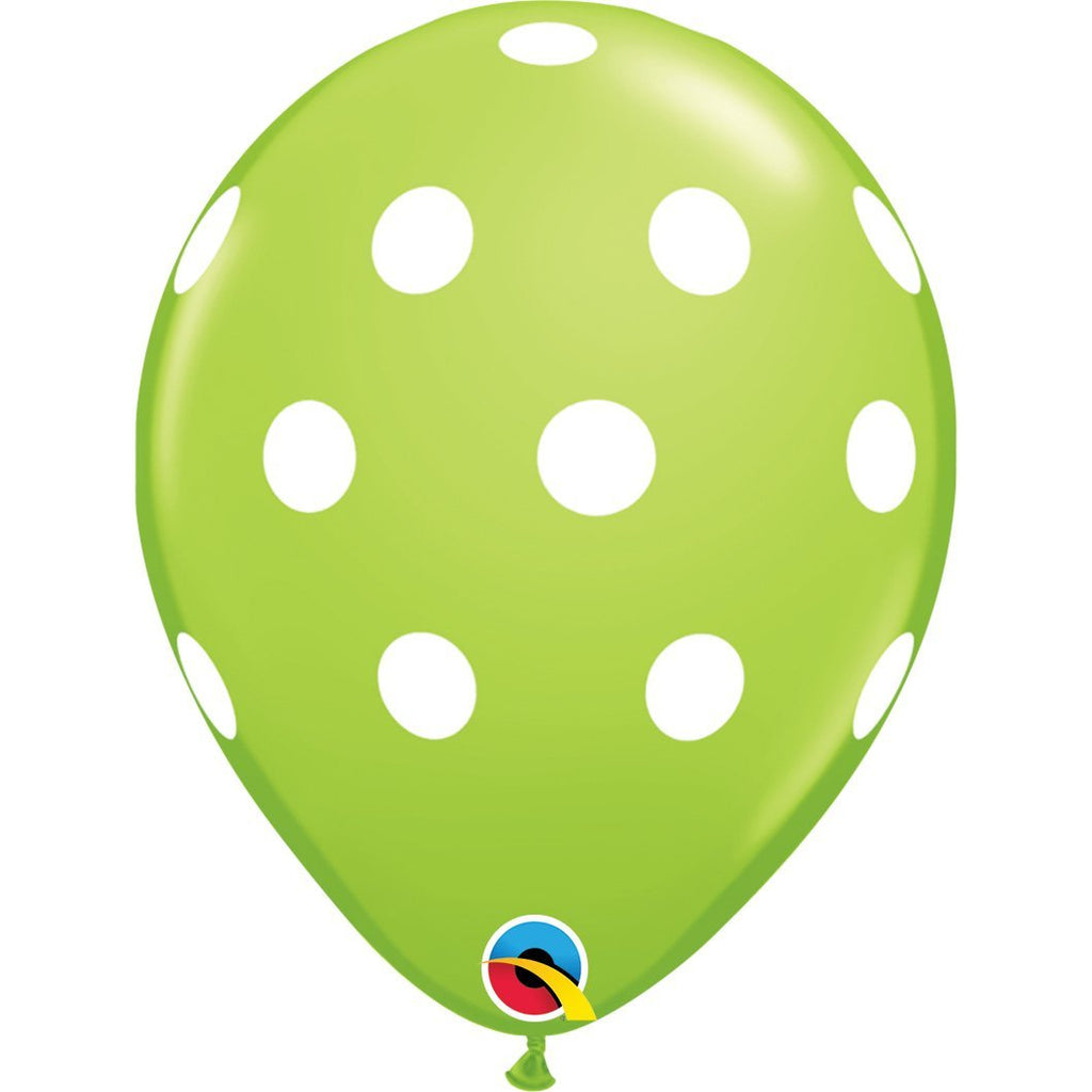 big-polka-dots-lime-green-round-printed-latex-balloon-11-28cm-86421-1