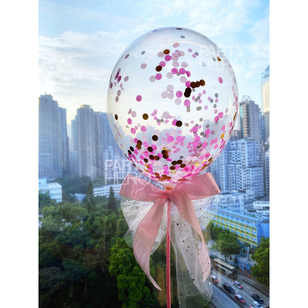 "11"" Fairytale Air-Filled Confetti Balloon"