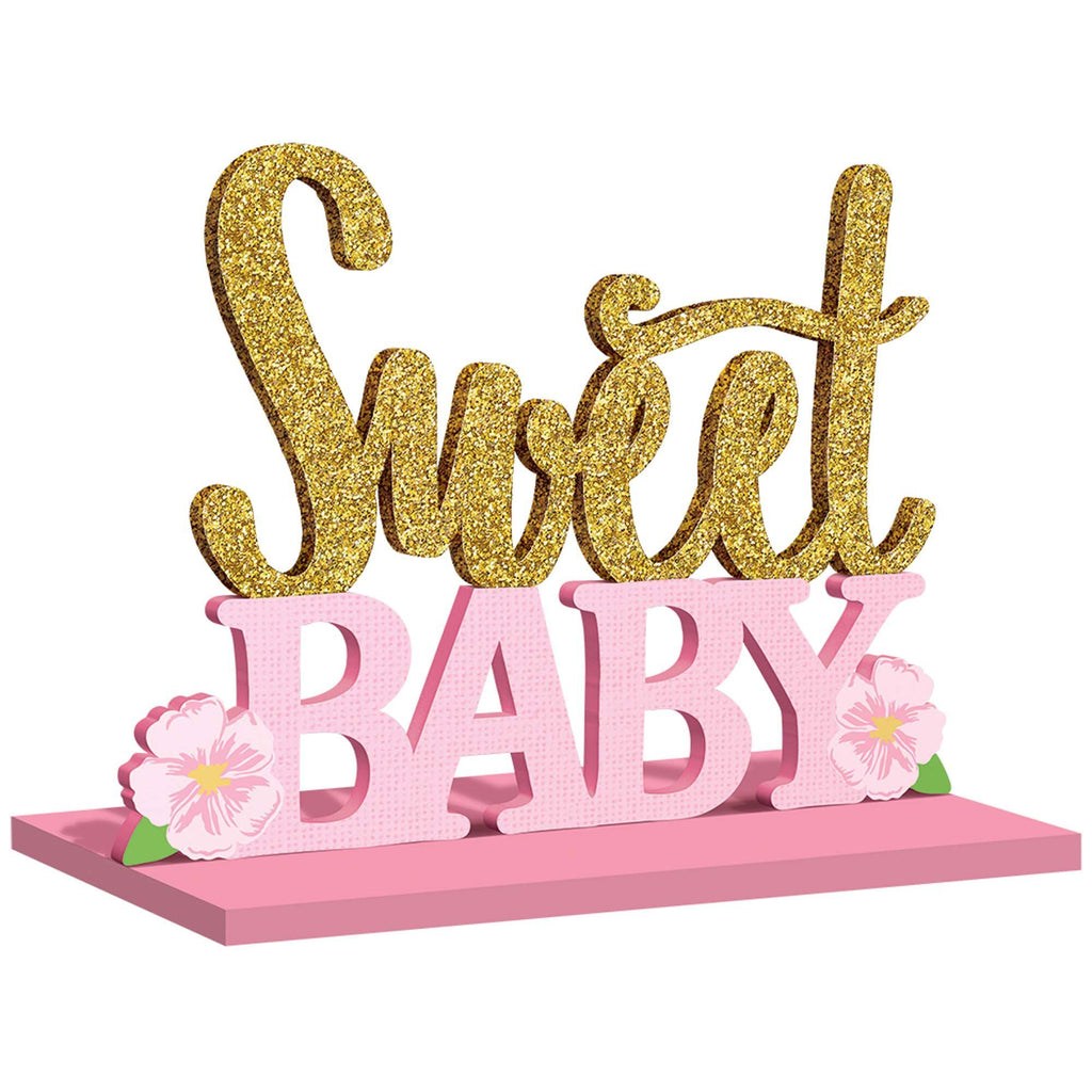 floral-baby-stand-up-mdf-sign-with-glitter-8.5in-x-11in-1