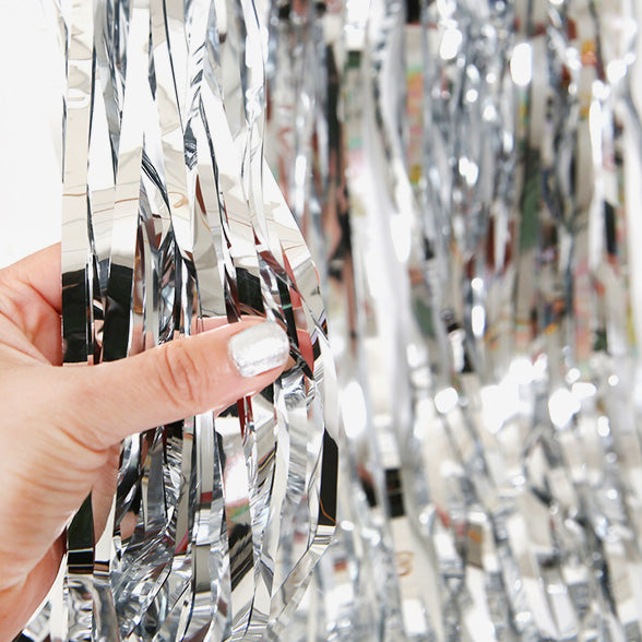 Door Curtain Foil Bright Silver 1m x 2m