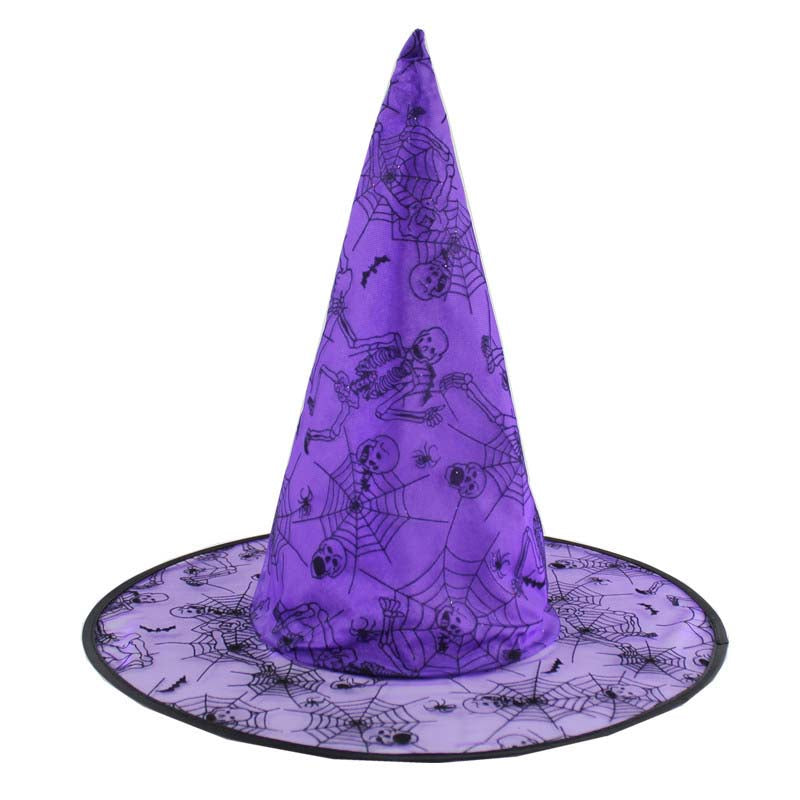 Halloween Witch Hat Purple 38cm x 41cm