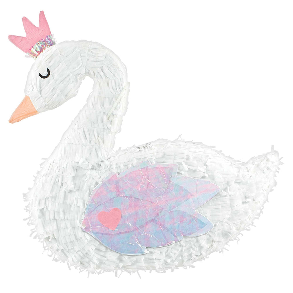 Magical Rainbow Birthday Swan Deluxe Pinata 22in x 20.5in x 3.5in