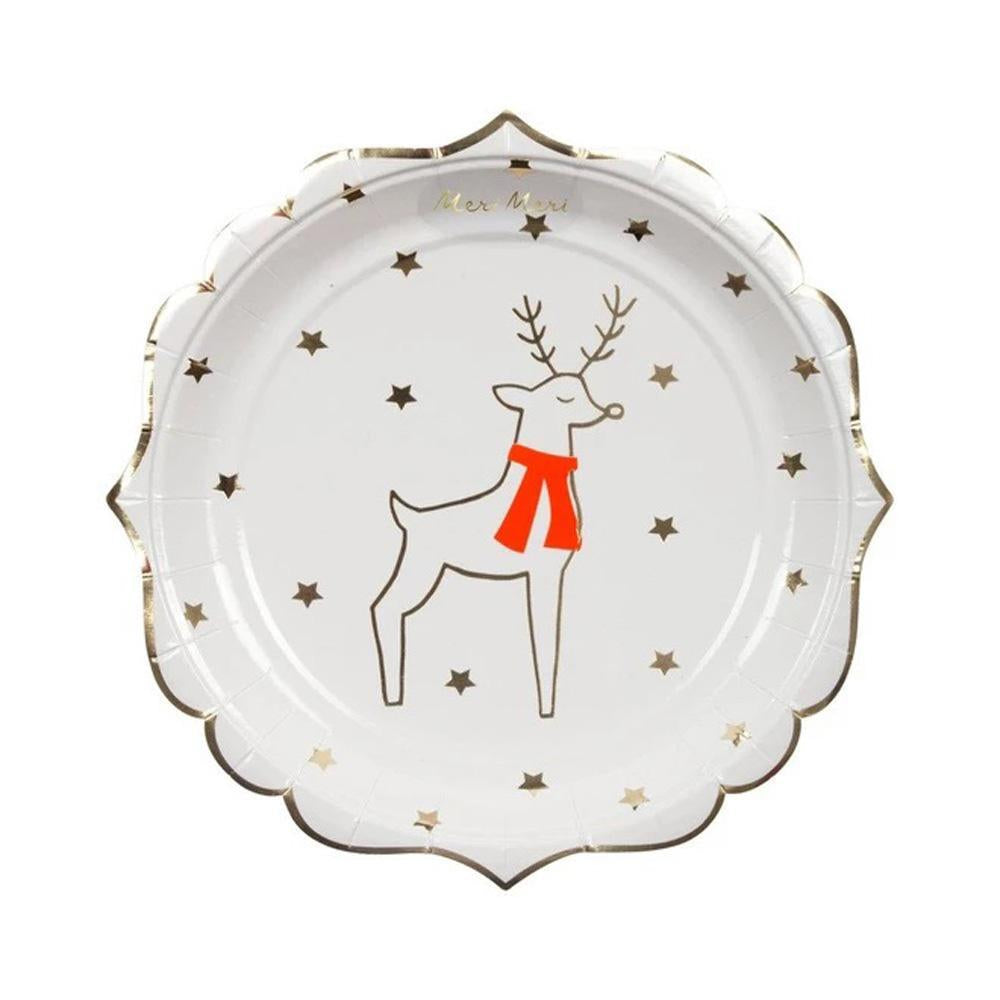 meri-meri-reindeer-&-star-plate-small-pack-of-8- (2)