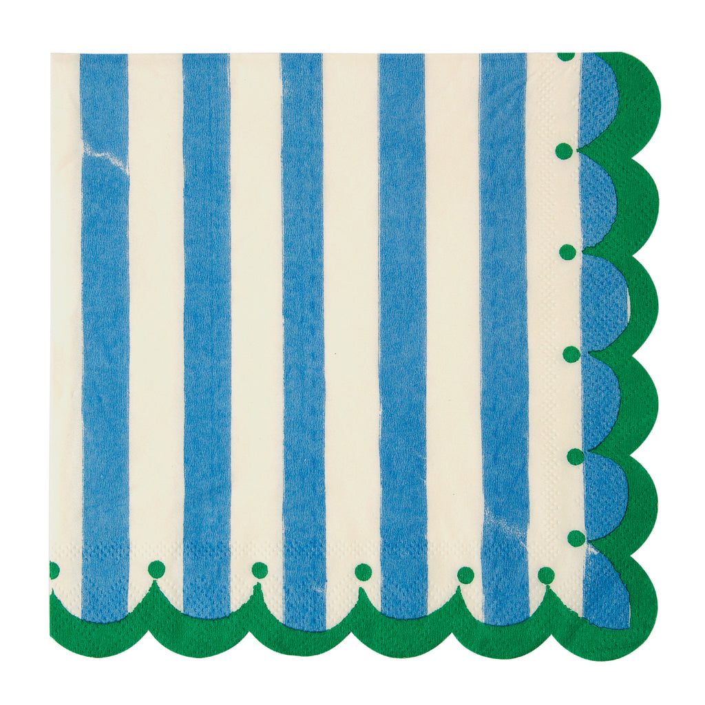 Toot Sweet Blue Large Napkins 13in - Pack of 20