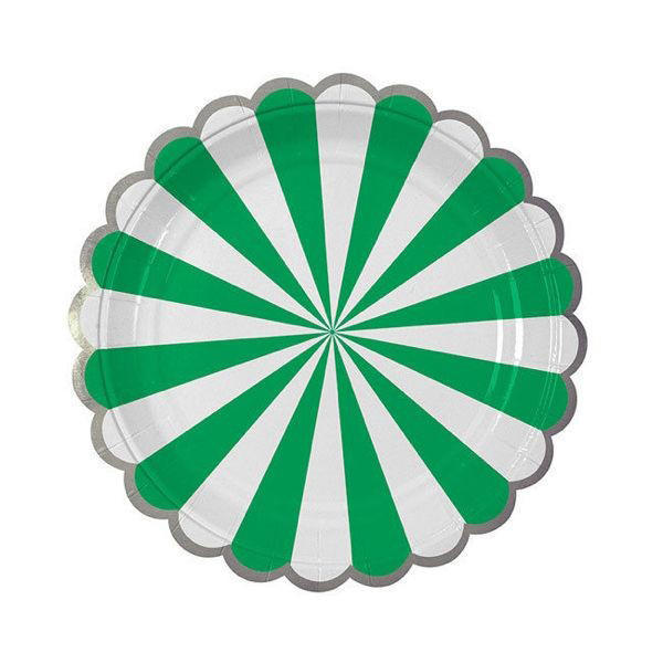 Toot Sweet Green Large Plates - Pack of 8