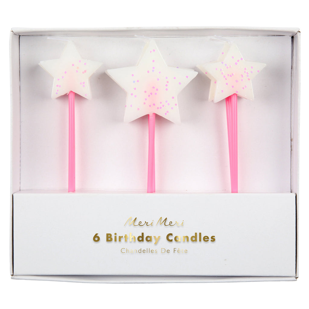 White Star Candles - Pack of 6