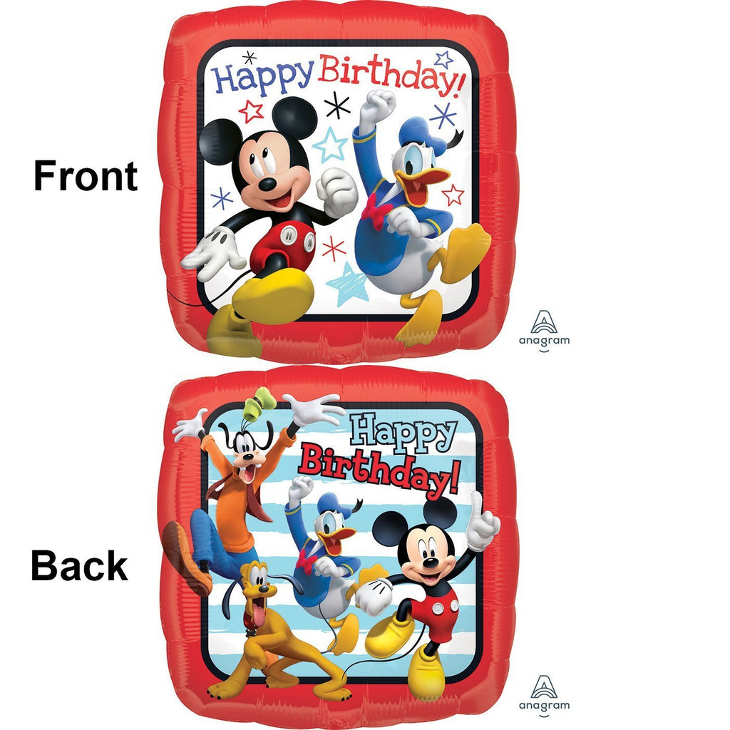 Mickey Roadster Square Foil Balloon 18in / 46cm