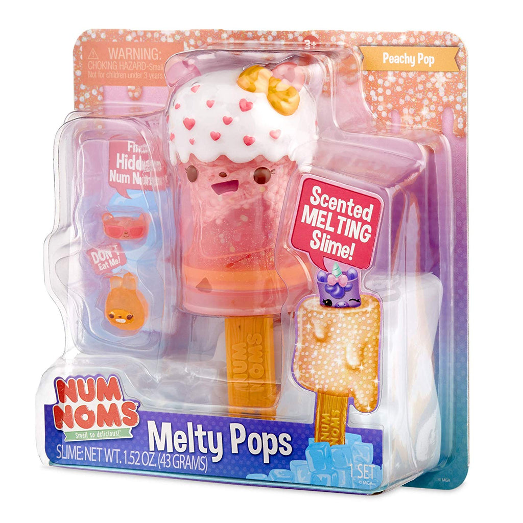Num Noms Snackables Melty Pops Scented Melting Slime - Peachy Pop