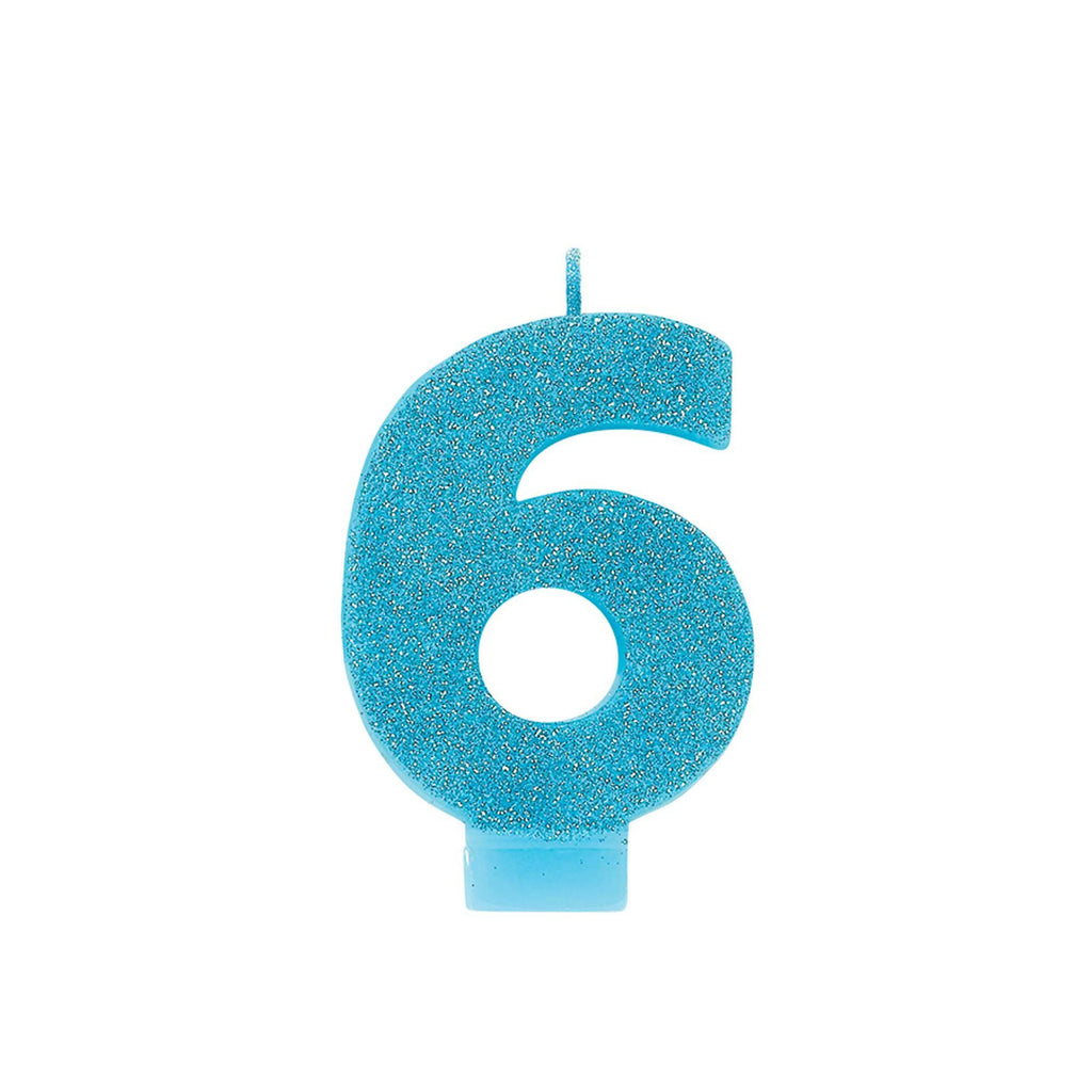 "number-""6""-cake-candle-glitter-caribbean-blue-1"