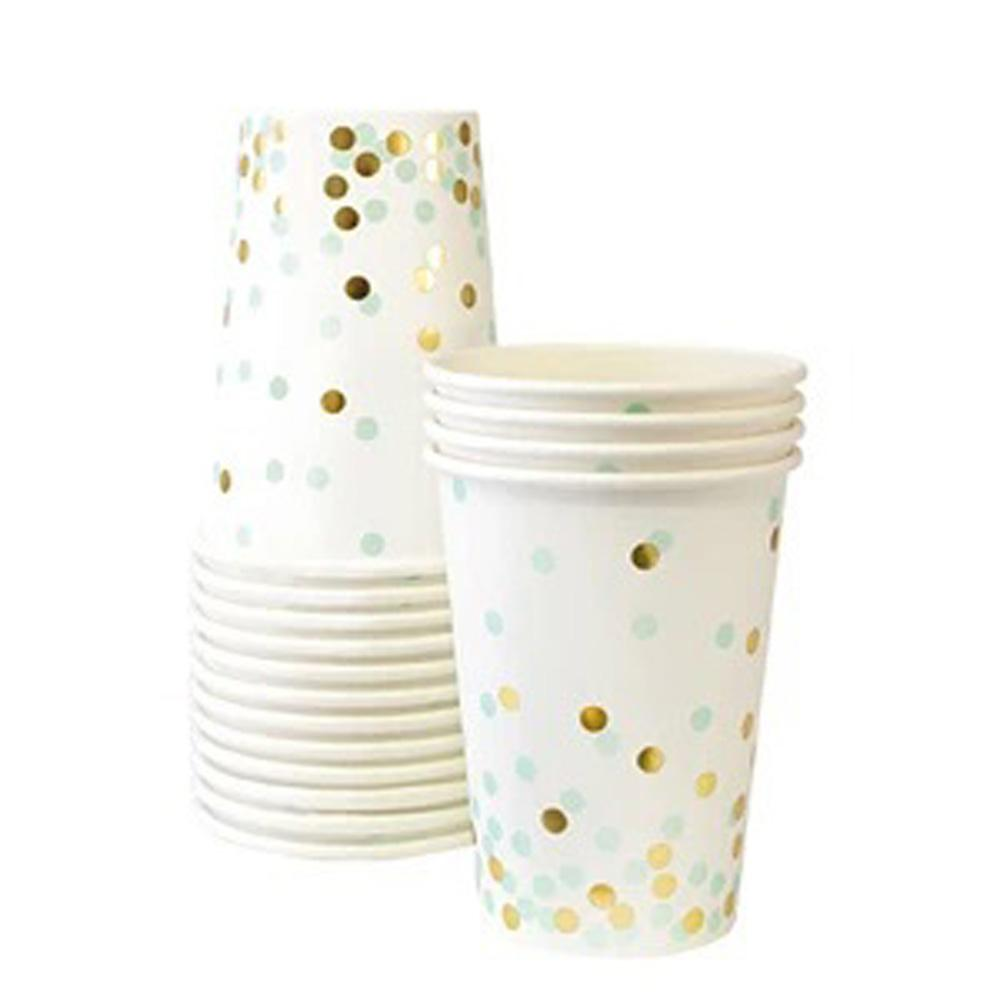 Mint To Be Paper Cups 9oz Pack Of 12 Party Hero