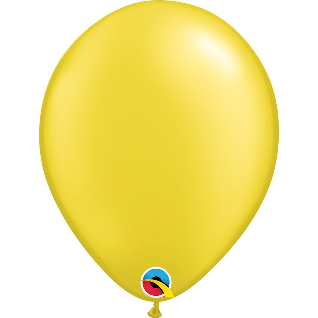 pearl-citine-yellow-round-plain-latex-balloon-11in-28cm-43771-01