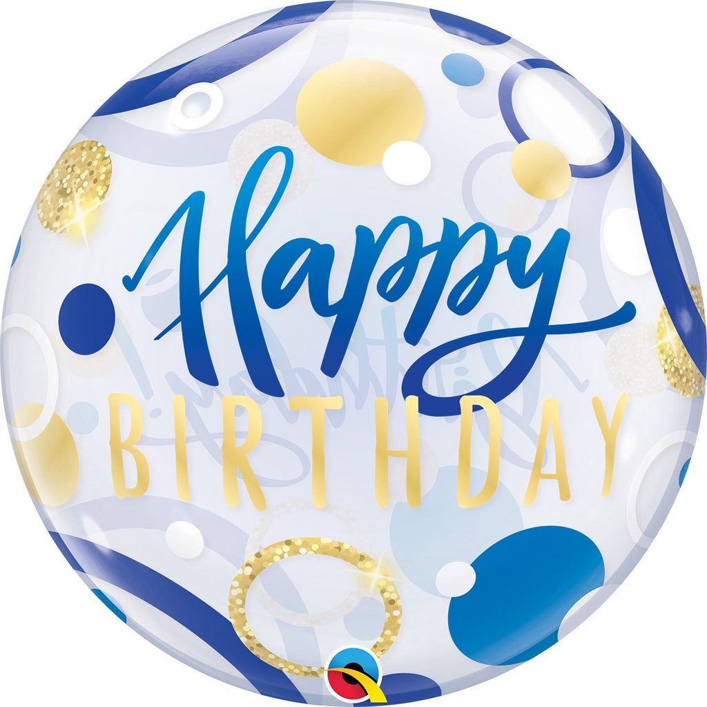 qualatex-birthday-blue-&-gold-dots-round-bubble-balloon-22in-55cm- (1)