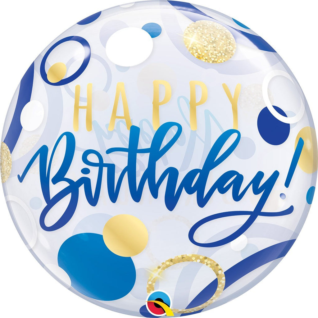 qualatex-birthday-blue-&-gold-dots-round-bubble-balloon-22in-55cm- (2)