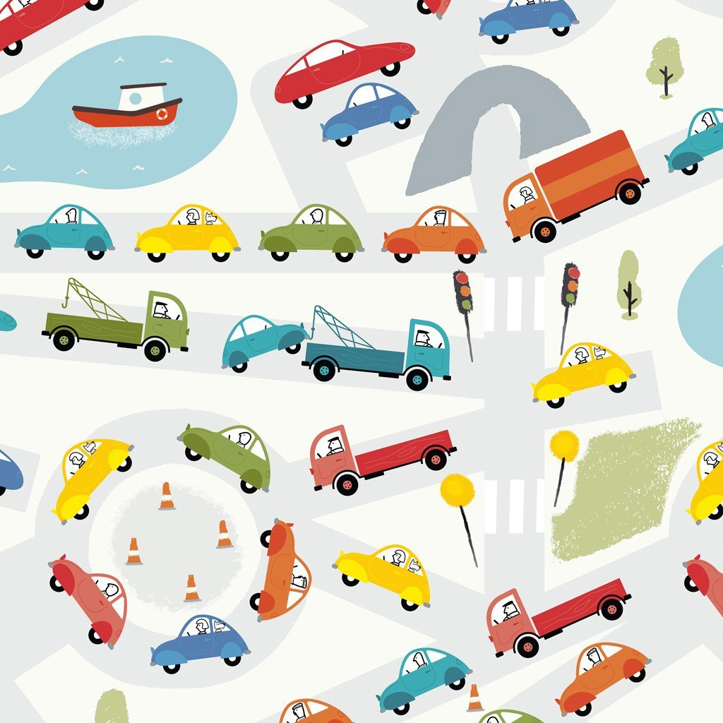rex-traffic-jam-wrapping-paper- (1)