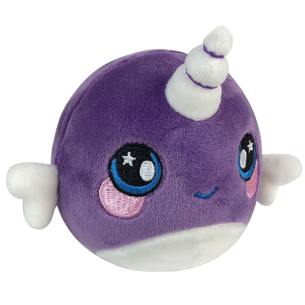 Squeezamals Super-Squishy Scented Plush 3.5in - Nellie The Narwhal