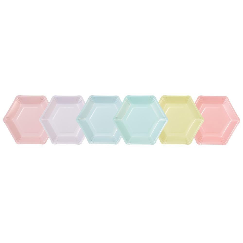 talking-tables-we-heart-pastel-hexagonal-plates-pack-of-12- (2)