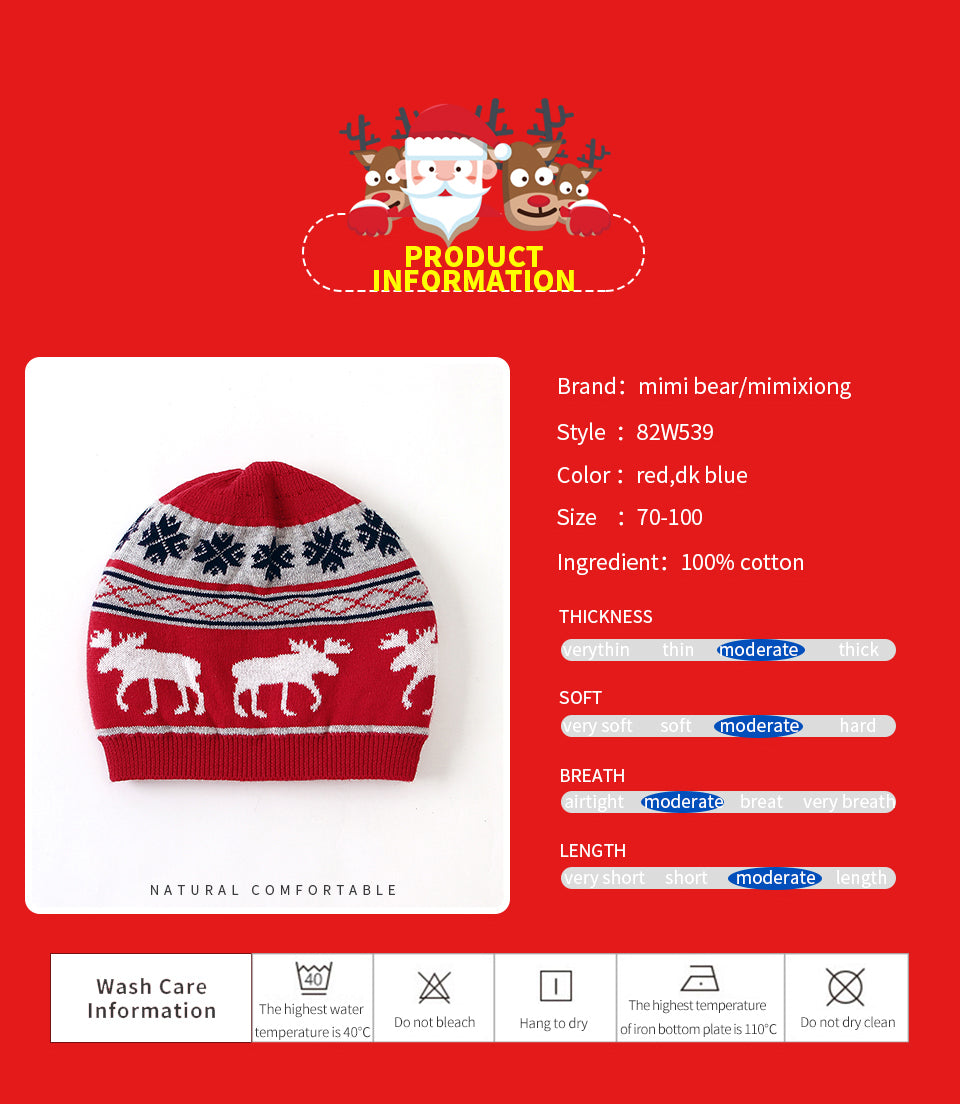 Christmas Baby Knit Hats
