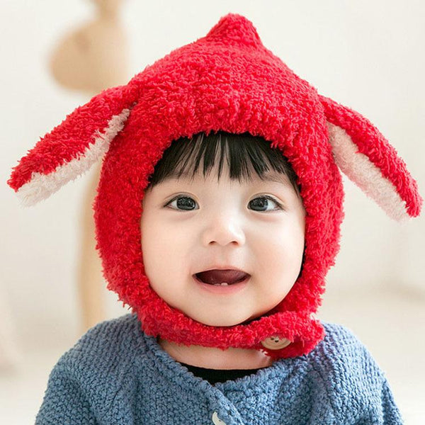 Rabbit Ears Baby Earmuff 1-2 Years Old Winter Hat - ccbabe