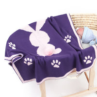 Knit Baby Blanket Rabbit Patterns For Toddler Stroller Bedding Cover
