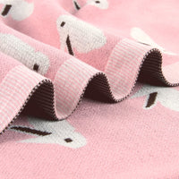 pink and grey blanket